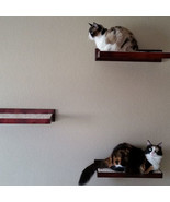 Amish Wood Cat Perch Wall Shelf - Cat Wall Perc... - $219.00