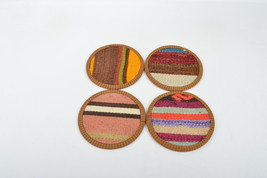 decor Coaster set , Decorative  Natural Coasters, Wedding Gift,carpet c... - $14.90
