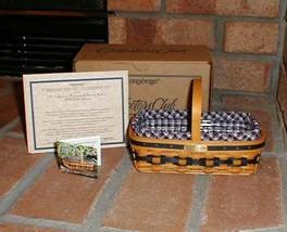 Longaberger 2000 JW Miniature Gathering Basket Combo New In Original Pac... - $69.25