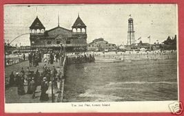 CONEY ISLAND NY Iron Pier People 1911 NEW YORK Postcard  - $10.00