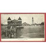 CONEY ISLAND NY Iron Pier People 1911 NEW YORK Postcard  - $10.00