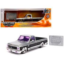 1972 Chevrolet Cheyenne Pickup Truck Raw Metal with Black Stripe Kustom ... - $39.67