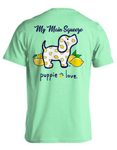 Puppie Love Rescue Dog Adult Unisex Short Sleeve Cotton Tee,Lemon Pup