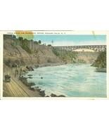 George Route and Whirlpool Rapids, Niagara Falls, NY, 1920s unused Postc... - $3.50