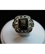 SALE New Sterling Silver ring Vintage design 2.92ct Smoky Quartz 5 grams... - $32.00