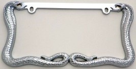 Snakes, Cobra Chrome Heavy Duty License Plate F... - $12.99