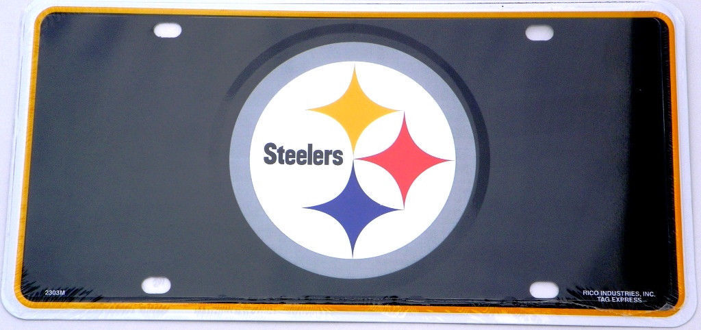 Pittsburgh Steelers Logo License Plate,  Auto Tag
