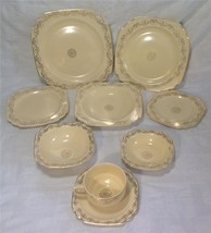 Homer Laughlin, Century,Garland/Three Daisy 9 pc Set (Plates, Bowls, Cup/Saucer) - $41.99