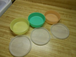 vintage tupperware pastel bowls and lids 6 ct - $28.45