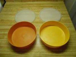 vintage tupperware bowls and lids - $8.76