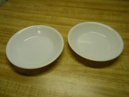 corelle bowls~ rare find ~ winter frost white~ finger tip bowls 2 ~ flat... - $14.65