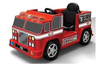 Primary image for Red Fire Engine Kids Ride On Truck Battery Powered 6V Microphone Sounds Lights