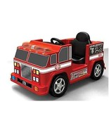 Red Fire Engine Kids Ride On Truck Battery Powered 6V Microphone Sounds Lights - $255.29