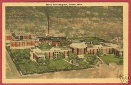 Detroit MI Henry Ford Hospital Linen Postcard BJs - $6.00
