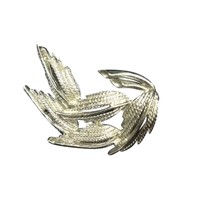 Vintage Silver Toned Costume Jewelry Brooch Pin Leaf RL182 - $18.80