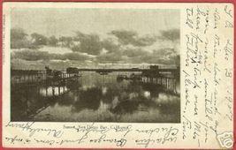San Diego Bay CA Postcard Sunset 1907 B&W UDB BJs - $6.00
