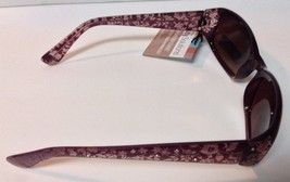 Foster G Fashion Accents Max Block Sunglasses Purple Frame NWT 100% UV - $9.99