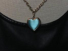 Choker Necklace Blue Heart Locket Friends - $5.93