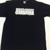 Anvil Black Tshirt WORLDS GREATEST GRANDMA Sz L NNT - $9.99
