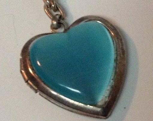Choker Necklace Blue Heart Locket Friends