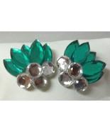 Fashion Emerald Diamond Color Earrings Studs - $6.99