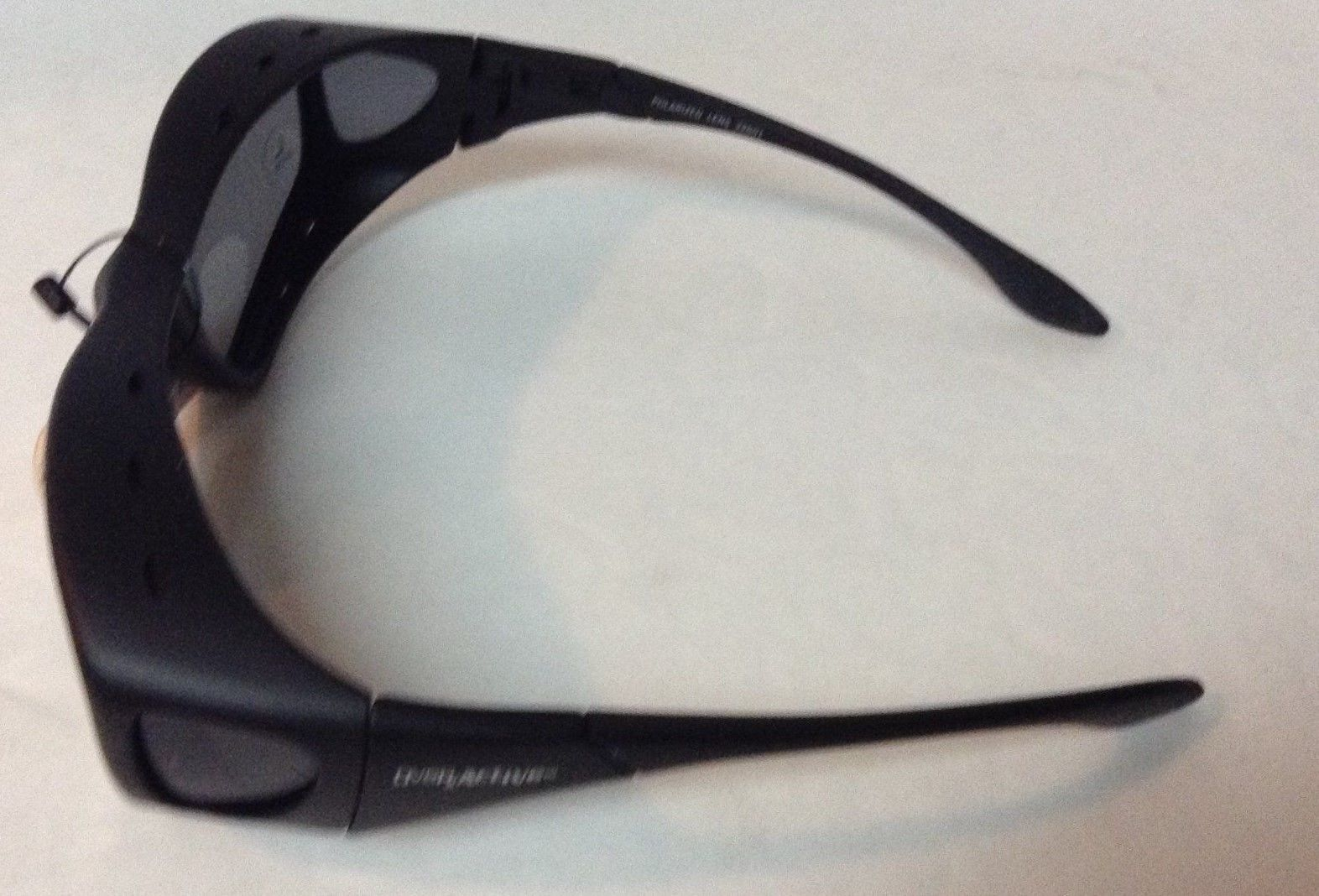 Black Sport Shield Sunglasses Sz Large NWT Overactive Sports Polarized 100% UV