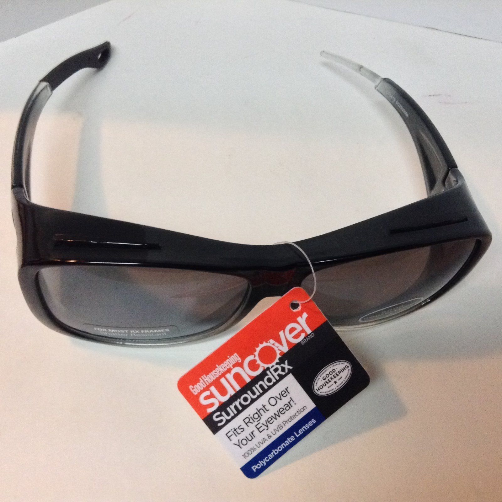 Fits Over Shield Sunglasses NWT Black Shatter Resistant