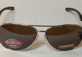 Foster G Legends Gold Frame Sunglasses MaxBlock NWT 100% UVA UVB - $10.99
