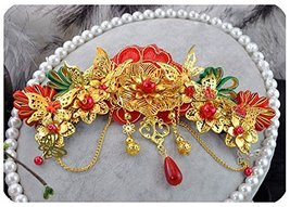 Classical Traditional Chinese Wedding Exquisite Hair Accessory With Hairpins image 1