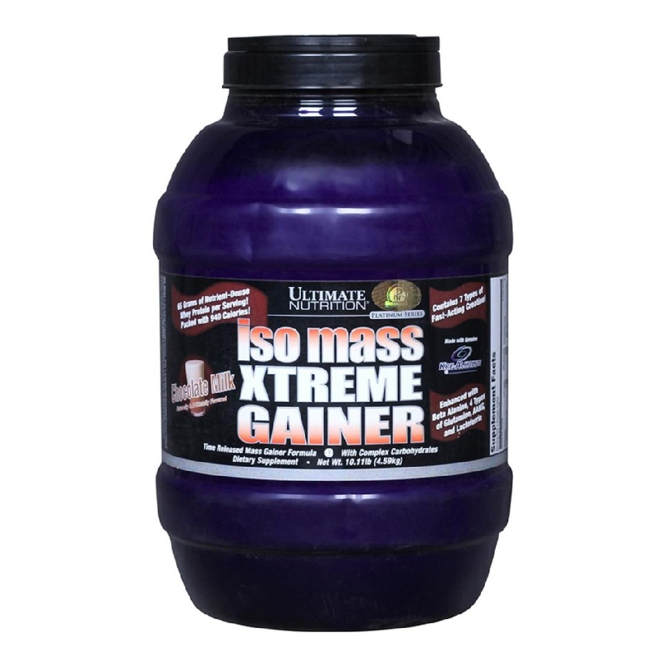 Primary image for Ultimate Nutrition Iso Mass Xtreme Gainer, Chocolate Milkshake 10.11 lb