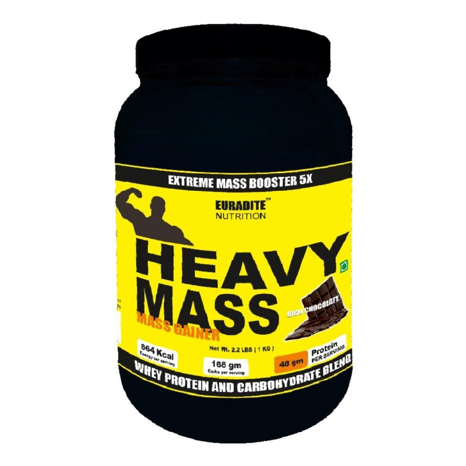 Primary image for Euradite Nutrition Heavy Mass Gainer, Chocolate 2.2 lb