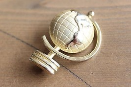 VIntage Globe Brooch Pin by AJC - $14.85