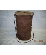 RAWEDGE LEATHER TRIMS LACE LACING CORD 1/8 FOLDED ST SUEDE BROWN SPOOL 3... - $125.00