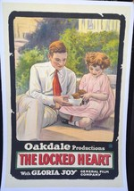 THE LOCKED HEART (1918) Silent Film One-Sheet with Henry King & Gloria Joy - $750.00