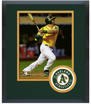 Stephen Vogt 2015 Oakland A's - 11x14 Team Logo Matted/Framed Photo - $43.55