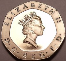 Proof Great Britain 1989 20 Pence~Super Cameo~100,000 Minted~Free Shipping - $7.83