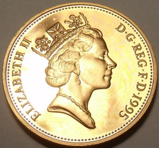 Cameo Proof Great Britain 1995 Penny~100,000 Minted~Proofs Are The Best~... - $5.93