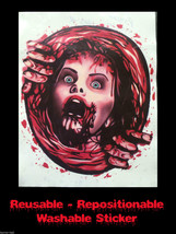 Bloody Horror--PSYCHO VICTIM TOILET COVER STICKER--Halloween Bathroom De... - $6.90