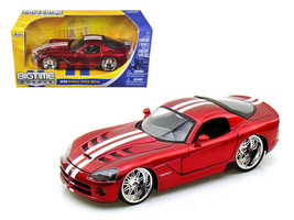 2008 Dodge Viper SRT10 Metallic Red 1/24 Diecast Model Car by Jada - $34.95