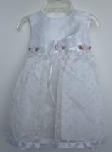 Bonnie Baby White Fancy Dress with White Polkadots EUC girls 12 Months  - $10.88