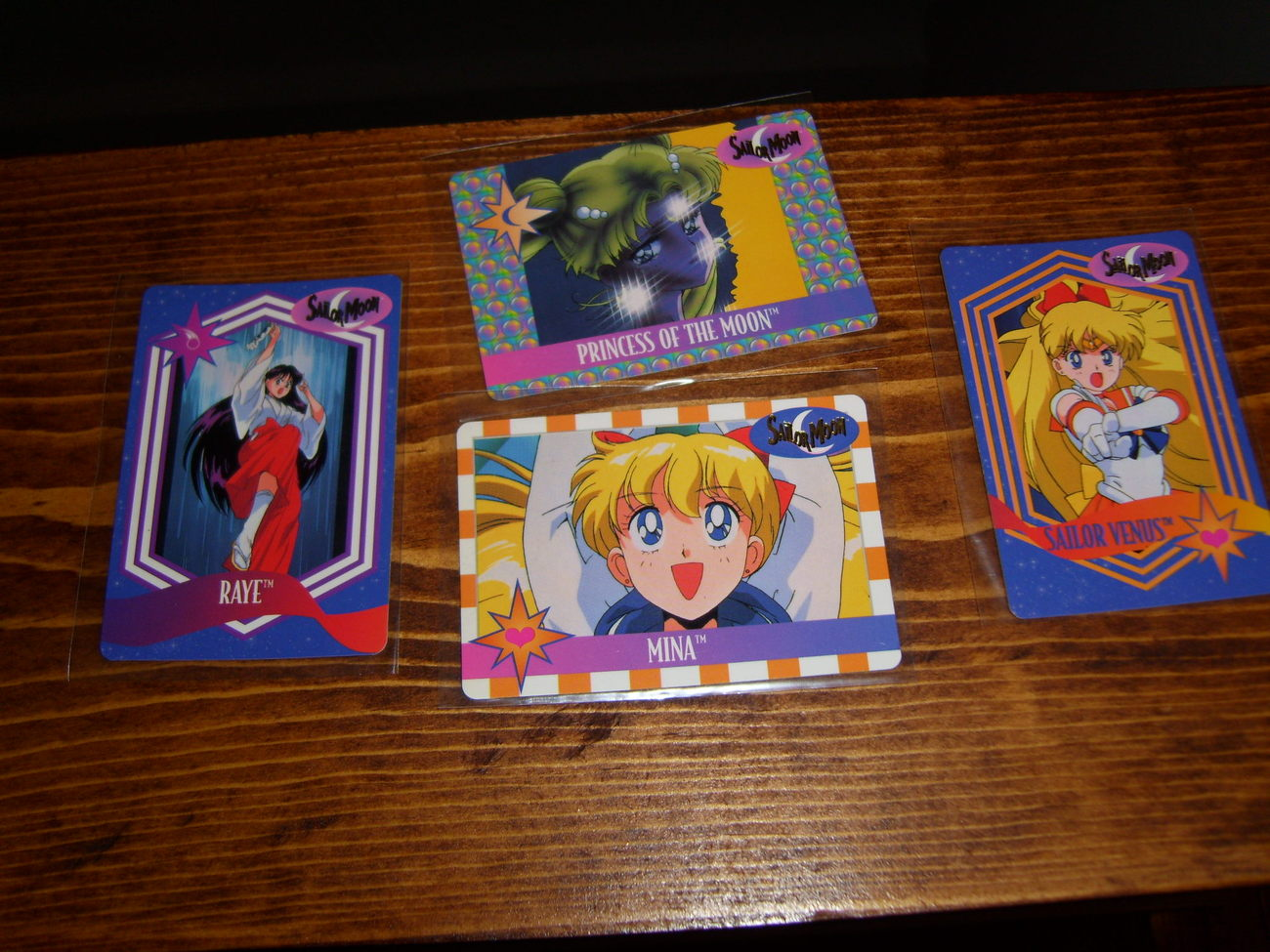 Lot of 4 Sailor Moon trading cards Lot #2