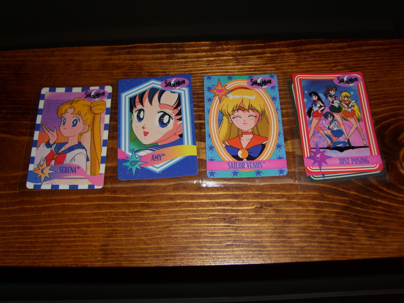 Lot of 4 Sailor Moon trading cards Lot #3