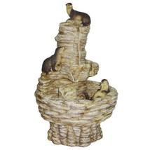 Design Toscano Tres Amigos Playful Otter Cascad... - $192.48