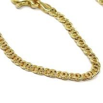 "18K YELLOW GOLD BRACELET FLAT LINKS, length 16 cm 6.3"" INCHES, 2.5 mm image 2"