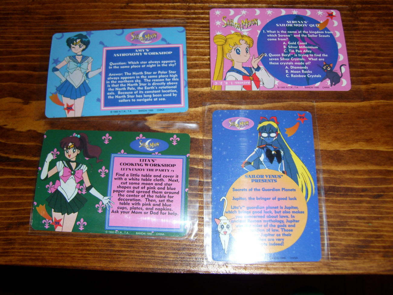 Lot of 4 Sailor Moon trading cards Lot #7
