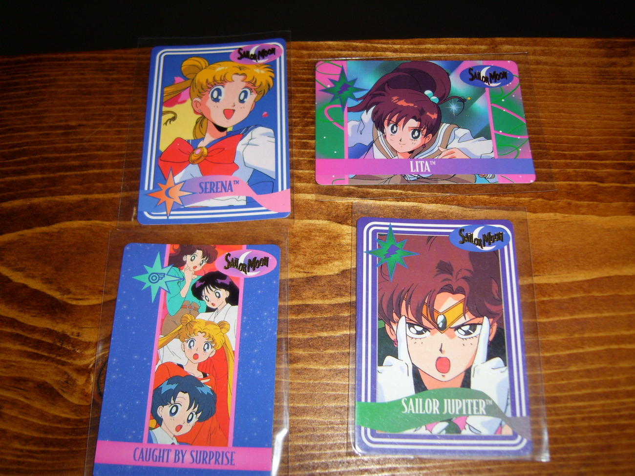 Lot of 4 Sailor Moon trading cards Lot #8