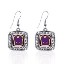 Inspired Silver Jelly Classic Charm Earrings Square French Hook Clear Cr... - $9.80