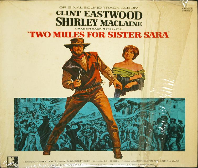 Two Mules For Sister Sara by Ennio Morricone      RARE LP Bonanza