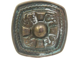 Aztec Brass Antique Finish Decorative Belt Buckle - $9.85