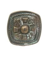 Aztec Brass Antique Finish Decorative Belt Buckle - $9.85